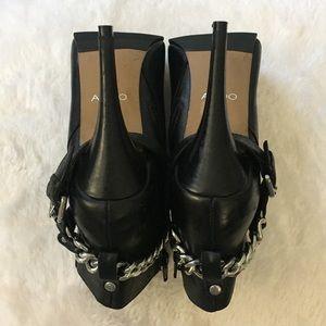 Aldo Shoes - Aldo Genuine Leather Moto Heeled Ankle Booties